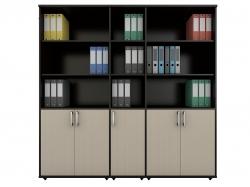 Шкафы офисные полуоткрытые