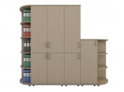 Шкафы офисные угловые