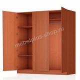 Шкаф платяной 3-створчатый (комбинированный)